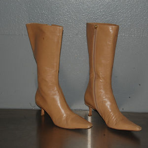 auth Jimmy Choo Nude Lether Boots Size 8